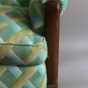 1094-Paire fauteuils clubs a carreaux verts (17)