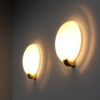 4 Fine French Art Deco Brass and Glass Sconces by Jean Perzel