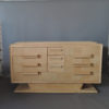 Fine Large French Midcentury Elm Chest of Drawers