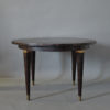 Fine French Art Deco Extendable Macassar Ebony Round Table by Dominique