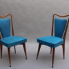 Set of Six Fine French 1950s Beechwood Chairs