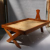 French Midcentury Solid Elm Bed by Pierre Chapo