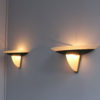 Pair of Fine French Art Deco Patina-Ed Bronze and Frosted Glass by Perzel