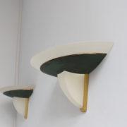 1743a-2 appliques Perzel V en verre patine vert fonce00013