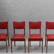 1761-4 chaises 50s skai rouge petits carres (1)