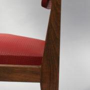 1761-4 chaises 50s skai rouge petits carres (12)