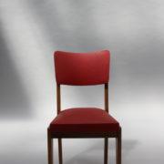 1761-4 chaises 50s skai rouge petits carres (3)