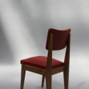 1761-4 chaises 50s skai rouge petits carres (6)