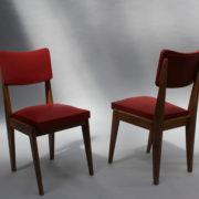 1761-4 chaises 50s skai rouge petits carres (8)