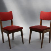 1761-4 chaises 50s skai rouge petits carres (9)