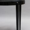 French Art Deco Black Lacquered Oval Side Table