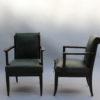 Set of Eight Fine French Art Deco Oak Armchairs by Leon and Maurice Jallot
