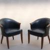 Fine French Art Deco Swivel Desk Chair on a Walnut Base by Leleu