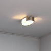 Two Fine French Art Deco Nickel Brushed and Glass Ceiling or Wall Lights, Perzel