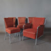Set of Four Czech 1930s Tubular Chrome Chairs