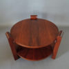 Large French Art Deco Two-Tier Walnut Gueridon