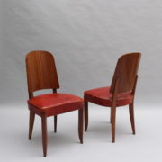1747-6Chaises+2fauteuils SM Maxime Old cuir rouge 00007