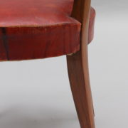 1747-6Chaises+2fauteuils SM Maxime Old cuir rouge 00018