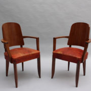 1747-6Chaises+2fauteuils SM Maxime Old cuir rouge 00022