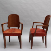 1747-6Chaises+2fauteuils SM Maxime Old cuir rouge 00023