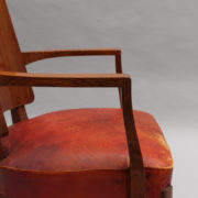 1747-6Chaises+2fauteuils SM Maxime Old cuir rouge 00031