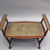 Fine French Art Nouveau Upholstered Mahogany Bench