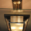 Pair of Fine French Art Deco Glass and Chrome Chandelier by Petitot