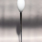 1786-Grand lampadaire Perzel chrome vasque verre blanc epais 00002 - Copy