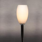 1786-Grand lampadaire Perzel chrome vasque verre blanc epais 00005