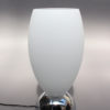 Fine French Art Deco Chrome and White Glass Table Lamp by Perzel