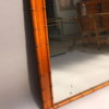 French Napoleon III Faux Bamboo and Mahogany Framed Mirror