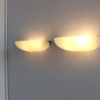 Pair of Fine French Art Deco Fluted Glass and Nickel Wall Lights by Perzel