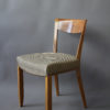 Set of 12 Fine French Art Deco Walnut Dining Chairs by Jules Leleu