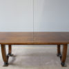 Large Fine French Art Deco Extendable Walnut Dining Table by Leleu (documented)