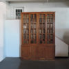 Large French Neoclassical Oak School Bookcase