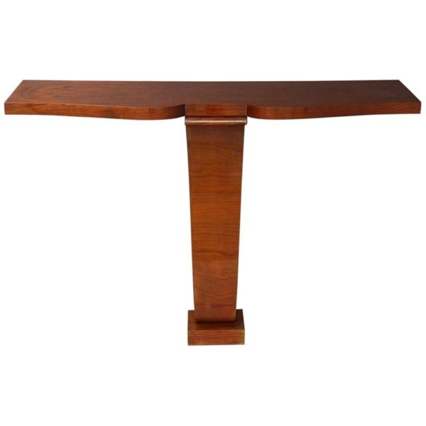 Fine French Art Deco Tulip Wood Console