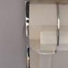 A Fine French Art Deco Two-Tiered Glass and Chrome Flush Mount by Jean Perzel