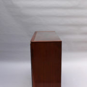 1750-Vitrine basse SM Maxime Old cuir rouge 00008