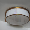 Fine French Art Deco Bronze and Enameled Glass Flush Mount by Jean Perzel