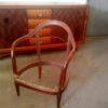 4 Fine French Art Deco Mahogany Gondola Chairs (2 available)