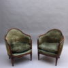 4 Fine French Art Deco Mahogany Gondola Chairs