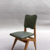 Six French, 1950s Solid Oak Dining Chairs