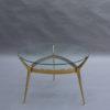 Fine Italian 1950s Brass and Glass 2-Tier Gueridon