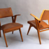 Pair of French 1950s Bridge Armchairs