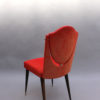 Set of 6 Unusual French 1960s Dining Chairs