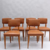 Set of 6 Fine French 1950s Oak Chairs