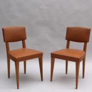 17- 1628- 6Chaises palissandre cuir marron placage 2 (3)