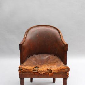1724-Fauteuil de bureau 1925 avec grecque1