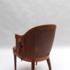 A Fine French Art Deco Mahogany and Amboyna Desk Armchair