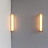 6 Fine French Art Deco Brushed Nickel and Glass Angle Sconces by Perzel